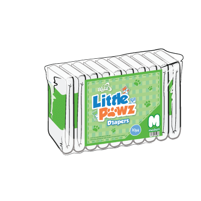 Front Diapers Little Pawz