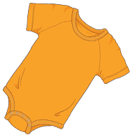 ABUniverse Coloured DiaperSuit Orange