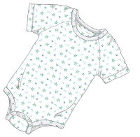 ABUniverse Patterned DiaperSuit Moons and Stars