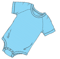 ABUniverse Active DiaperSuit Blue Stripes