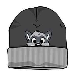PeekABU Knitted Hats Raccoon