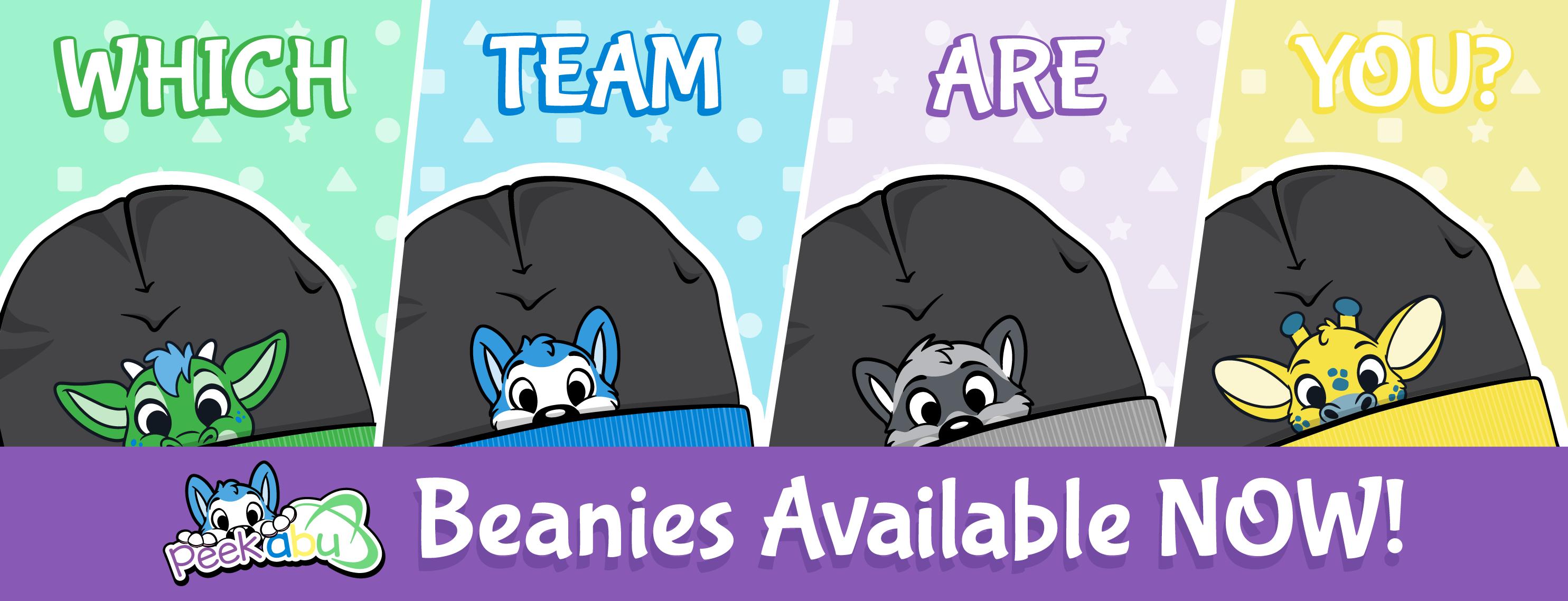 PeekABU Hats Release Banner