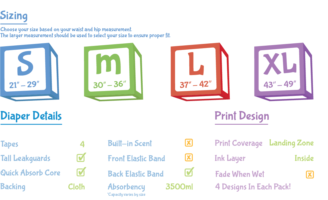 ABU PreSchool Cloth-Backed Diaper Features